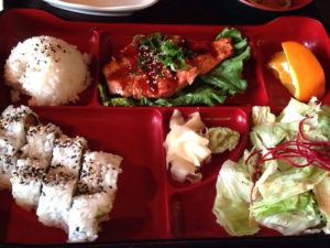 Salmon Teriyaki and Spicy Tuna Combination Bento