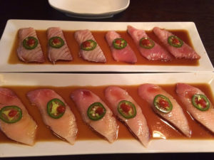 Seared Tuna and Yellow Tail Sashimi Plate