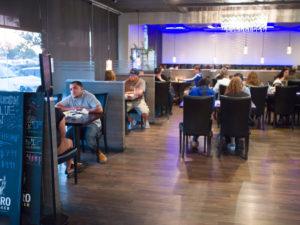Diners Inside iSushi Restaurant